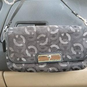 Coach small bag wristlet black/ silver Signature